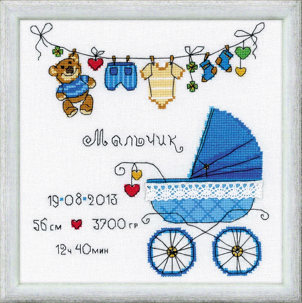 схема вышивки крестом к рождению ребенка